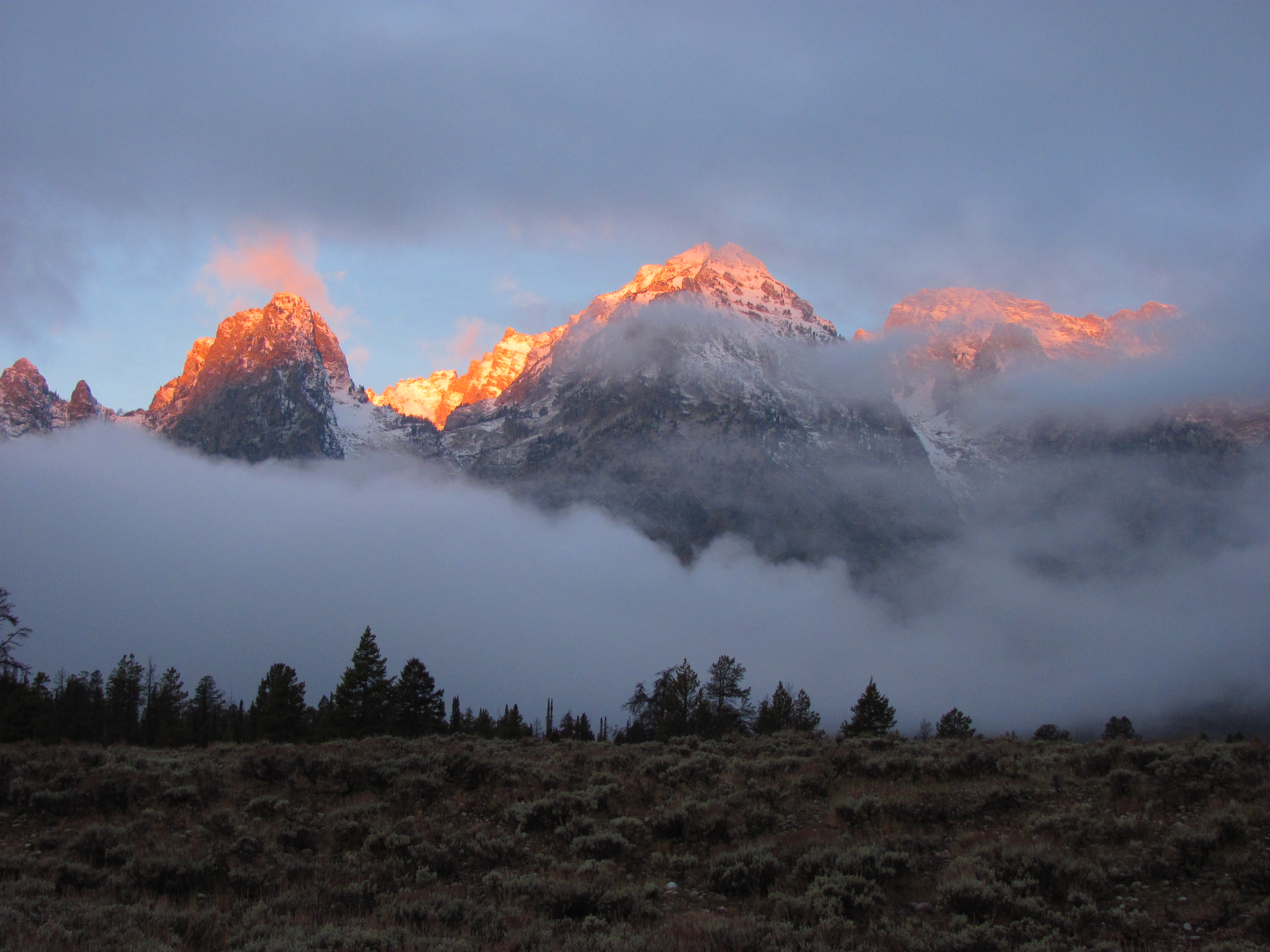 Early morning clouds at Grand Tetons